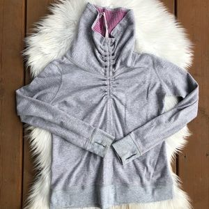 [Lululemon] Heathered Gray Pink Pull Over - 4 or 6